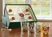 Military Insignia Decanter Sets