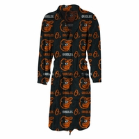 MLB Team Logo Highlight Mens Microfleece Bathrobe