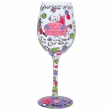 Mommy's Time Out Wine Glass by Lolita®