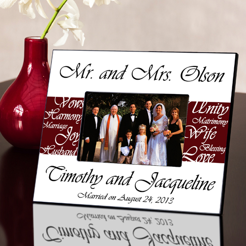 Mr And Mrs Questions For Him: Mr. And Mrs. Wedding Frame