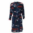 New England Patriots Mens Microfleece Robe in Navy