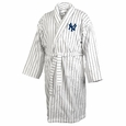 New York Yankees Pinstriped Terrycloth  Bathrobe