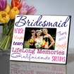 Perky Purple Personalized Bridesmaid Picture Frame