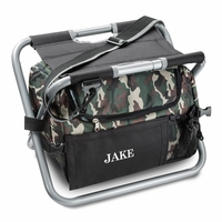 Personalized Camo Sit N Sip chair Cooler