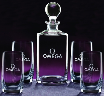 Personalized Meridian 5 Piece  Decanter Set