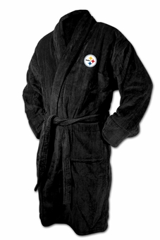 Pittsburgh Steelers Black Terrycloth  Bathrobe