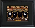 Pittsburgh Steelers Personalized Locker Room Print with Matted Frame