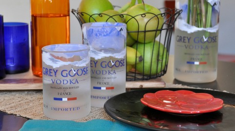 Recycled Grey Goose Vodka Bottle Glassware