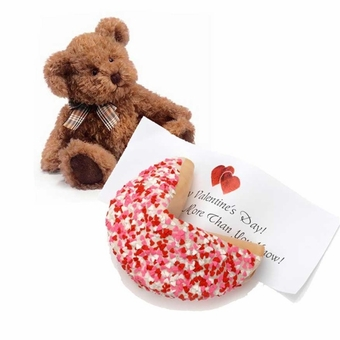 Romantic Lil' Fur-Tune� & Personalized Giant Gourmet Fortune Cookie