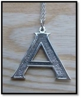 Sterling Silver Initial Pendant - Handcrafted in the USA
