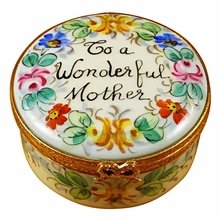 "Rochard ""To A Wonderful Mother"" Limoges Box"
