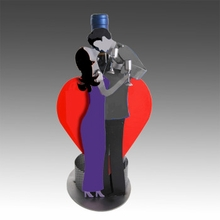 Toasting Lovers Wine Bottle Caddy