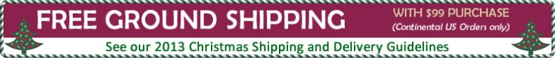 Free Ground Shipping on orders over $99.