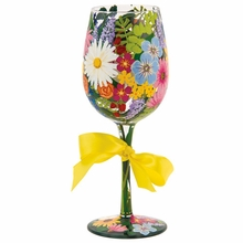 Wildflowers Wine Glass by Lolita�