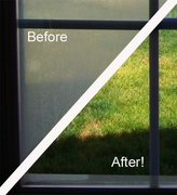 How to remove water spots from windows