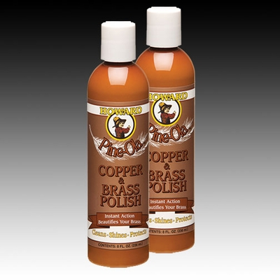 PineOla Copper, Brass, Bronze & Stainless Steel Cleaner and Polish 2 8oz Bottles