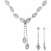 Aaliyah's Clear Marquise Cut Fashion Prom Necklace Set