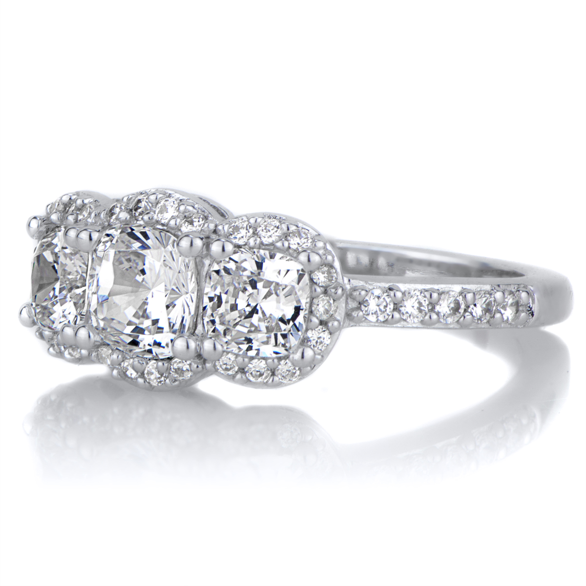 abigail s cushion cut 3 engagement ring