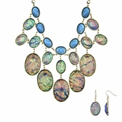 Adelle's Mystic Blue Statement Necklace Set