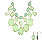 Adelle's Mystic Mint Green Statement Necklace Set