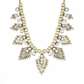 Aldane's Gold Art Deco Swarovski Crystal Statement Necklace