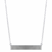 Alena's Solid Silver Bar Necklace