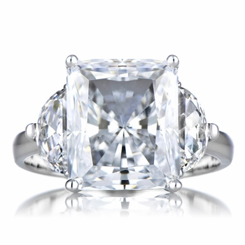 Alette's Fake Engagement Ring: Emerald Radiant Cut CZ