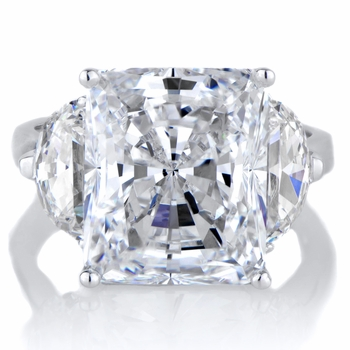 Alette's Emerald Cut CZ Engagement Ring