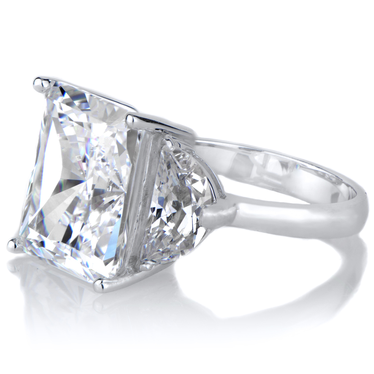 alette s emerald cut cz engagement ring