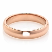 Alex's Rose Goldtone Plain Band Tungsten Ring - 3MM