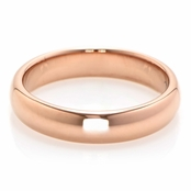 Alex's Rose Gold Tone Plain Band Tungsten Ring - 3MM