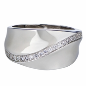 Alva's Cubic Zirconia Cigar Band Ring