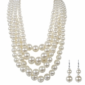 Alvina's Chunky Multi-Layered Pearl Necklace Set