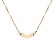 Alyssa's Stainless Steel Rose Goldtone Heart Necklace