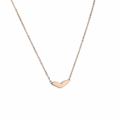 Alyssa's Stainless Steel Rose Gold Heart Necklace