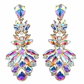 Ameena's Marquise Crystal Rhinestone Cluster Evening Earrings