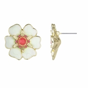 Amista's Large Tropical Flower Stud Earrings