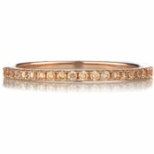 Ana's Rose Gold and Champagne CZ Wedding Band