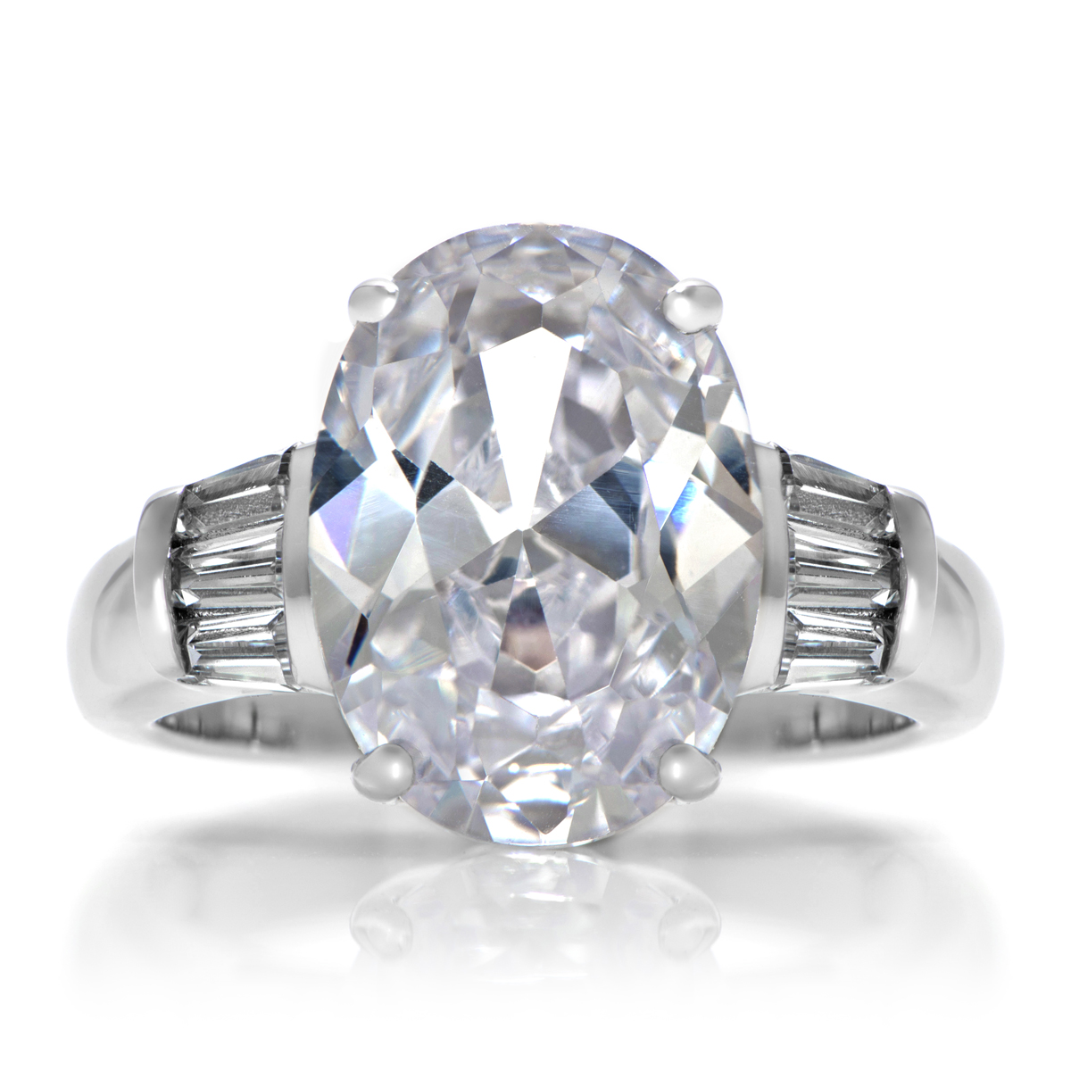 s simple oval cut engagement ring 6 carats