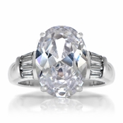 Ana's Simple Oval Cut Engagement Ring - 6 Carats