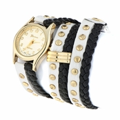 Anaelle's Fashion Wrap Watch - White and Black