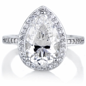 Analisse's Cubic Zirconia Pear Cut Halo Engagement Ring