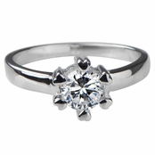 Andy's Promise Ring - Heart Prong CZ - .75 Ct