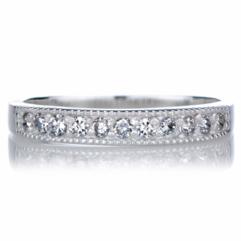 Angelina's CZ Pinky Eternity Band Ring