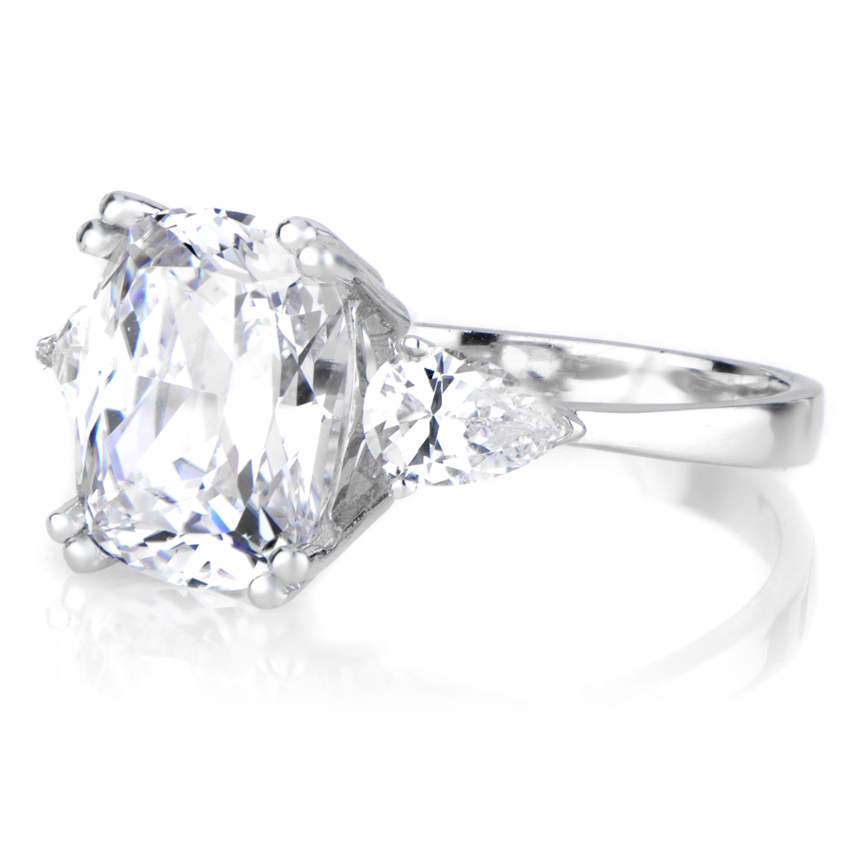 Anise s Cushion Cut CZ Engagement Ring