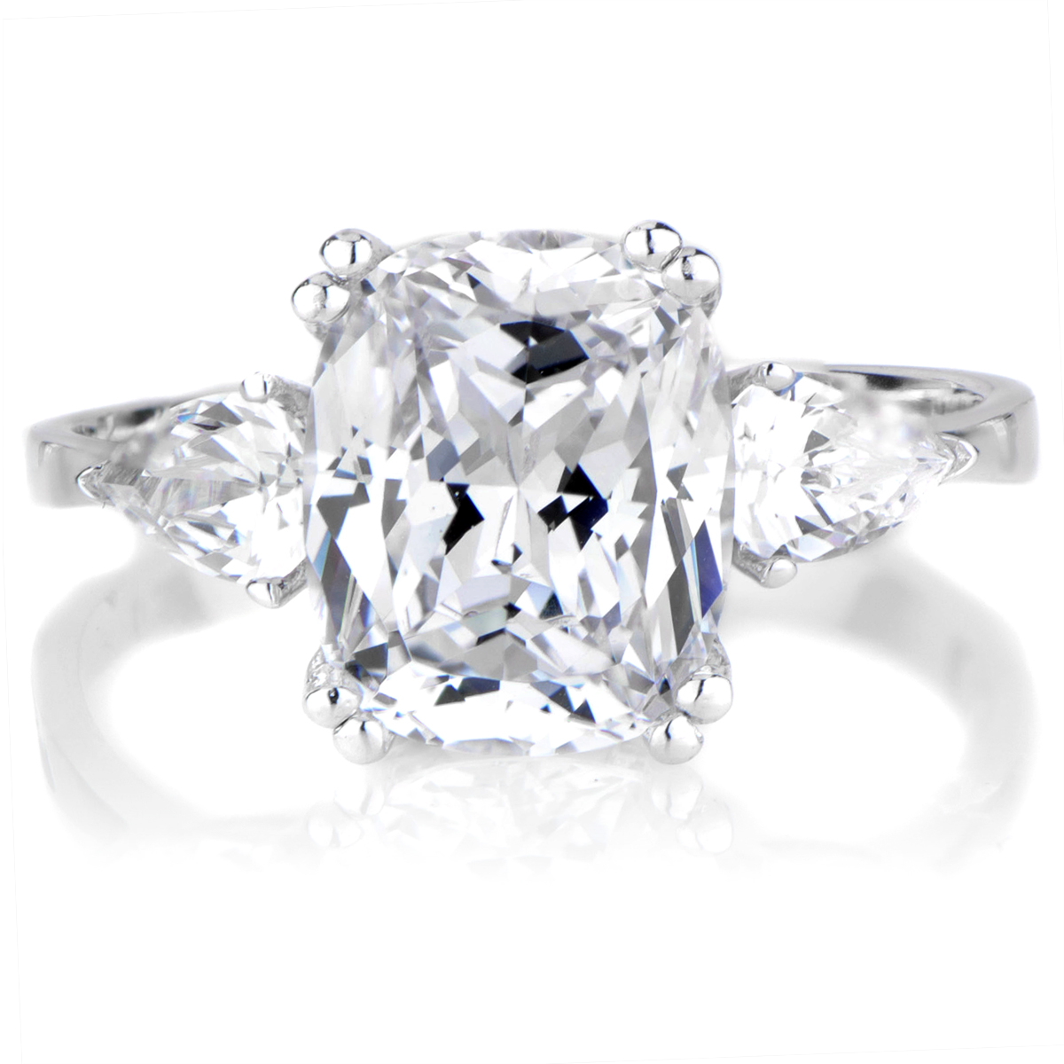 the gallery for gt cushion cut solitaire engagement rings