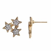Aniya's Gold Tone Star Cluster Stud Earrings