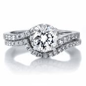 Annabelle's 1ct Round Cut CZ Wedding Ring Set
