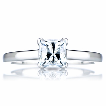 Annie's Promise Ring - 1 CT Princess Cut CZ