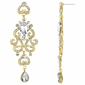 Antoinette's Fancy Bollywood Antique Dangle Earrings - Gold